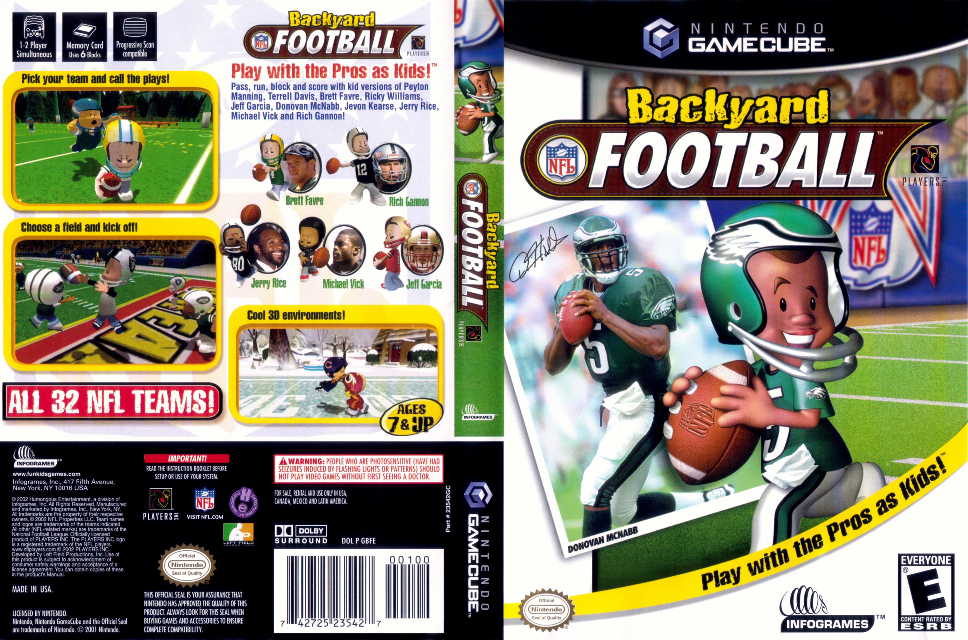Backyard Football Online Free nintendo game cube - lista de juegos y hardware