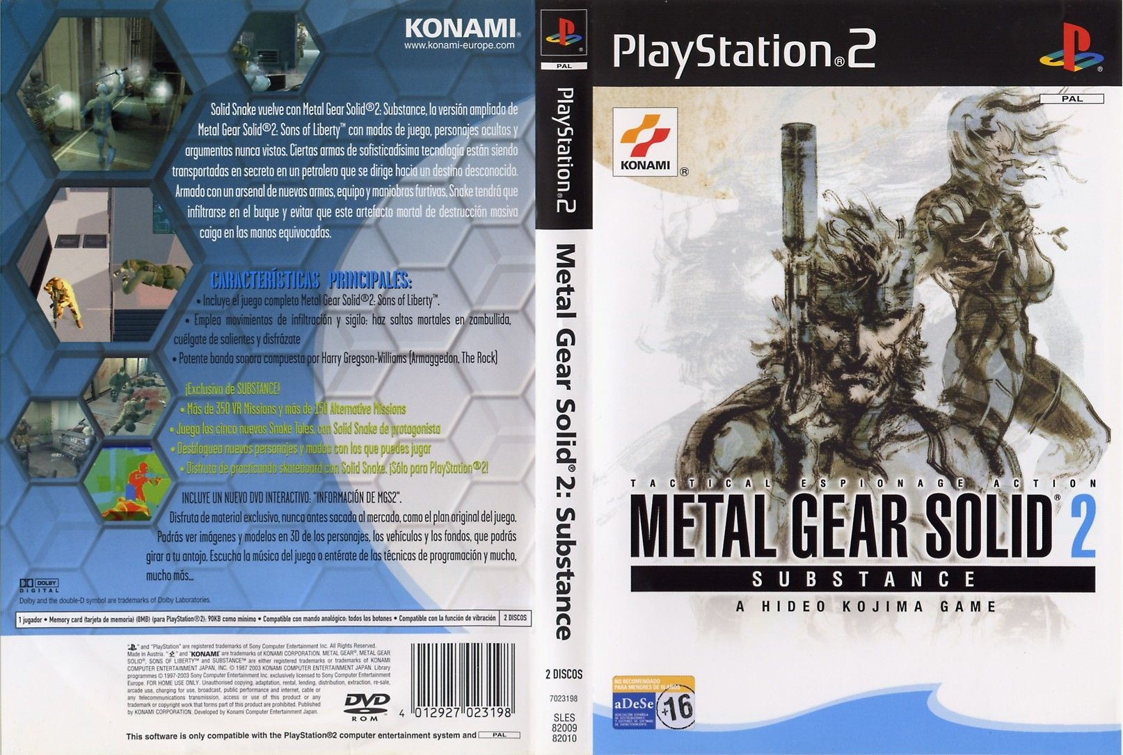 download metal gear solid 2 substance ps2 iso