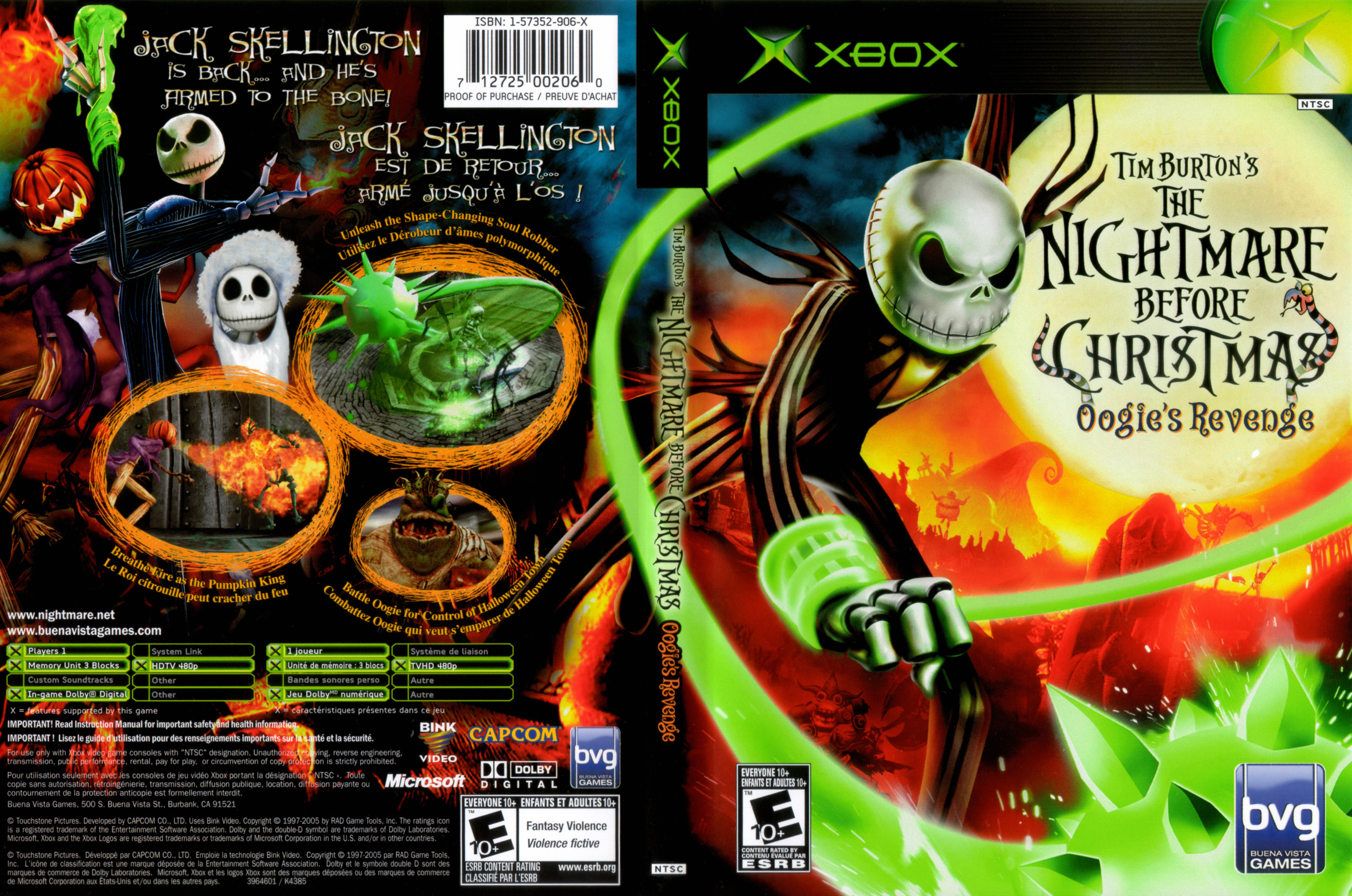 ... Xbox - Tim Burtons The Nightmare Before Christmas Oogies Revenge